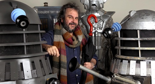 Peter Jackson with his Doctor Who collection, 2013 ONLY TO BE USED WITHTHE 1252 DOCTOR WHO COVER STORY.