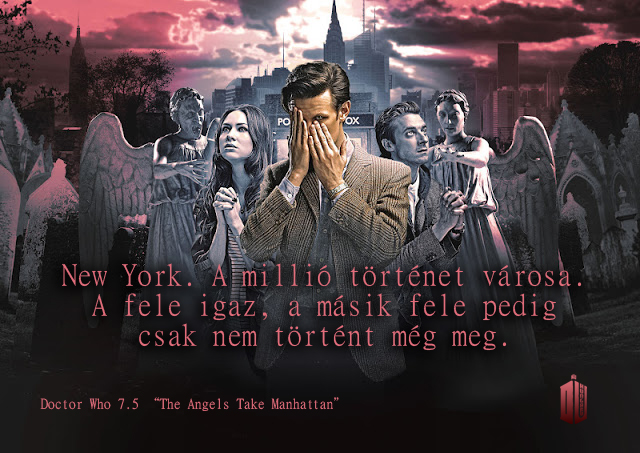 Programme Name: Doctor Who - TX: 29/09/2012 - Episode: The Angels Take Manhattan (No. 5) - Embargoed for publication until: 25/09/2012 - Picture Shows: Ep 5 iconic Amy Pond (KAREN GILLAN), The Doctor (MATT SMITH), Rory Williams (ARTHUR DARVILL) - (C) BBC - Photographer: Todd Antony
