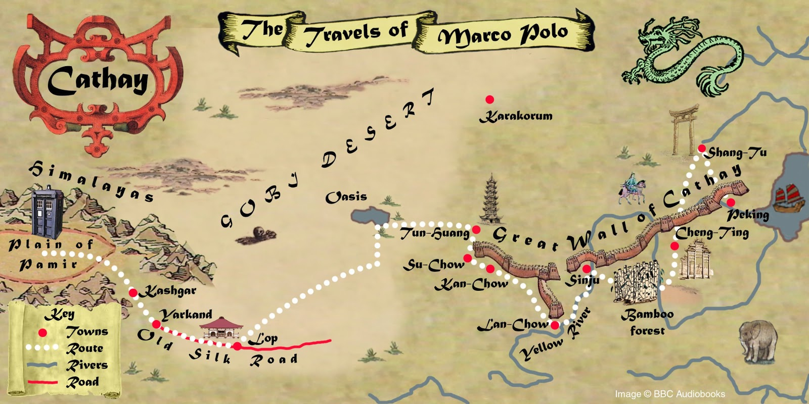 Doctor Who – Marco Polo Map