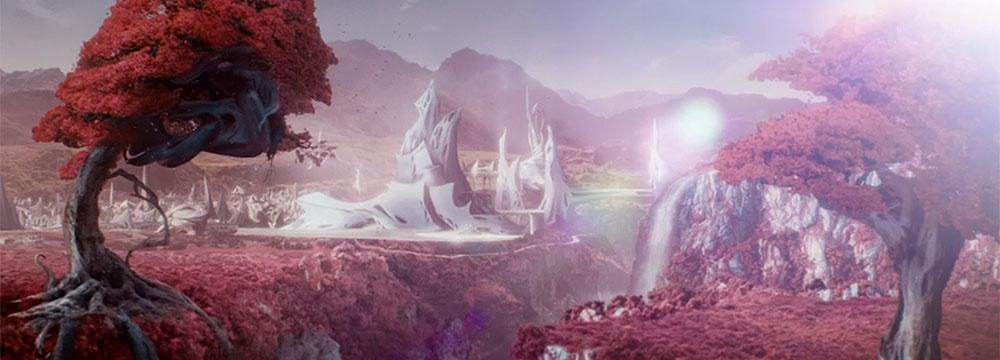 Tájkép a Rhodok és Quillek bolygóján
